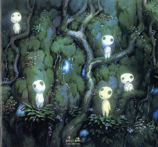 "The Kodamas    -    ""Princess Mononoke"" Studio Ghibli"