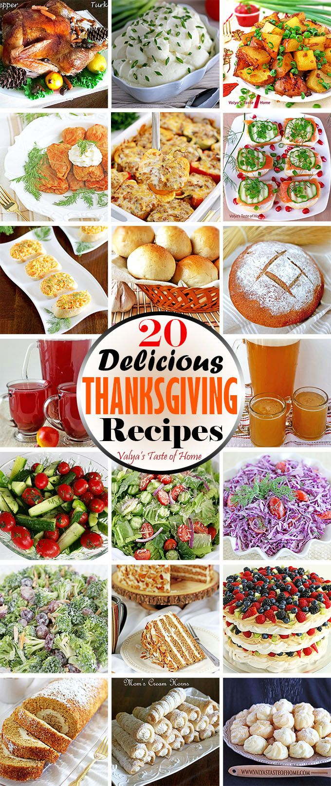 Find a variety of different recipes pieced together to help ease your Thanksgiving dinner prep anxiety. Most of the recipes on this list can be prepared ahead of time. It will be worth your time, I promise! So I hope these tips will help you enjoy cooking and baking with less hectic and stress as it can make or break your good times.