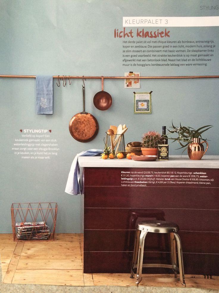 Elegant Wandfarbe Küche