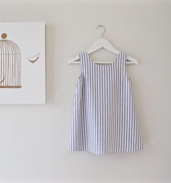 Mädchen Kleid-Baumwolle Stripe Kleinkind von ChasingMini auf Etsy