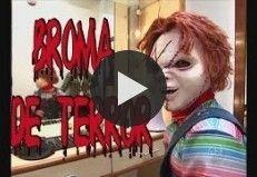 Un programa de televisión realizo esta broma de cámara escondida para promocionar la película La maldición de Chucky. ¡NO OLVIDES COMPARTIR EL VIDEO!