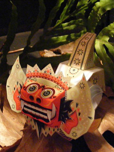 Indonesian Myth Papertoys by Sal Azad, via Behance
