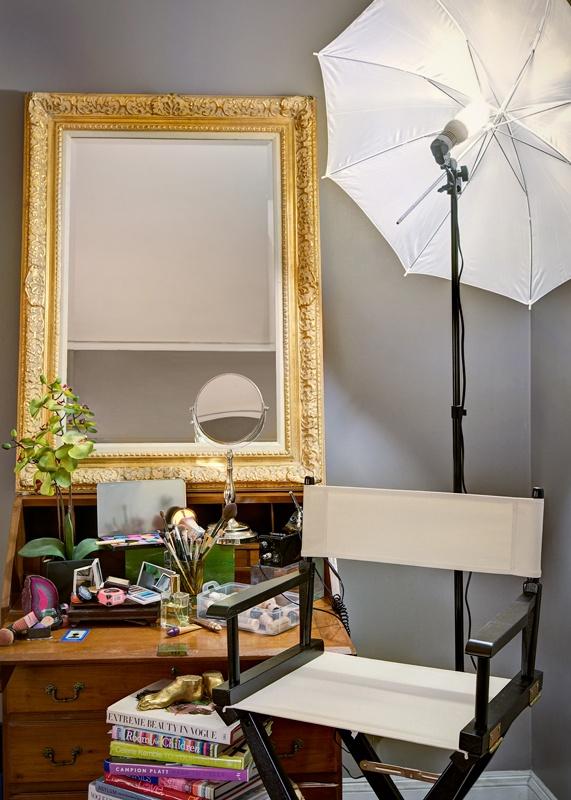 "workspace in studio @ Randi & Co. ""A Makeup Design Groupe"" www.randibuchananmakeupasrt.com"
