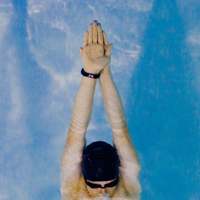 Waterfi Waterproofed Nike+ FuelBand - Swim to your goal.