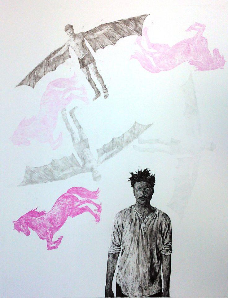 Aleksi Martikainen, Todellista ideaa odotellessa, 42 x 33, Aquatint / The Art of Basware 2013