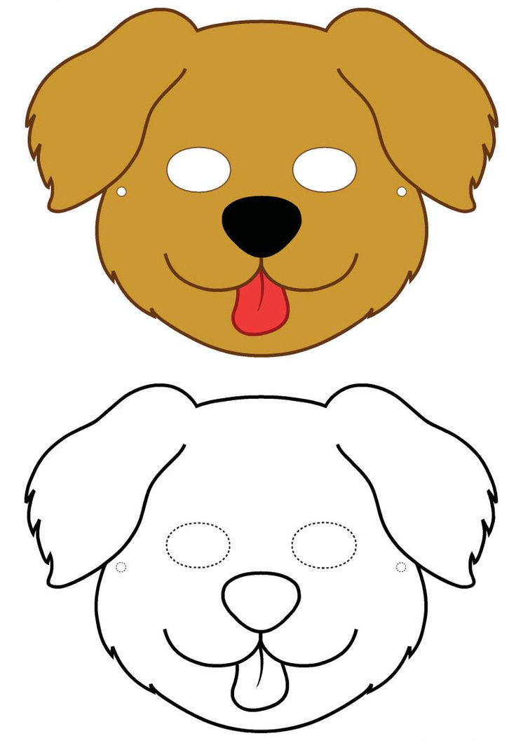 dog mask template for kids - masque masque de chien imprimer enfant pinterest