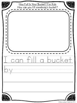 How Full Is Your Bucket? - reading response for beginning                                                                                                                                                                                 More