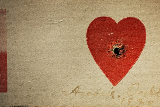 Annie Oakley's heart target from a private collection in Los Angeles, Calif.