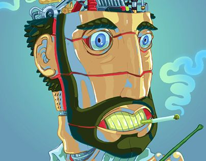 "Check out new work on my @Behance portfolio: ""Head Machine"" http://be.net/gallery/44201773/Head-Machine"