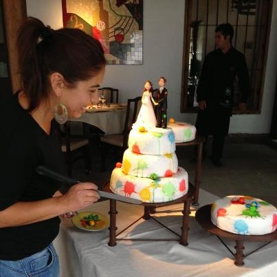 Do you love paintball this much?  Paintball Wedding Cake