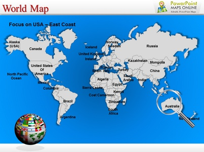 Best Interactive Powerpoint Maps Of USA Images On Pinterest - Us map ppt