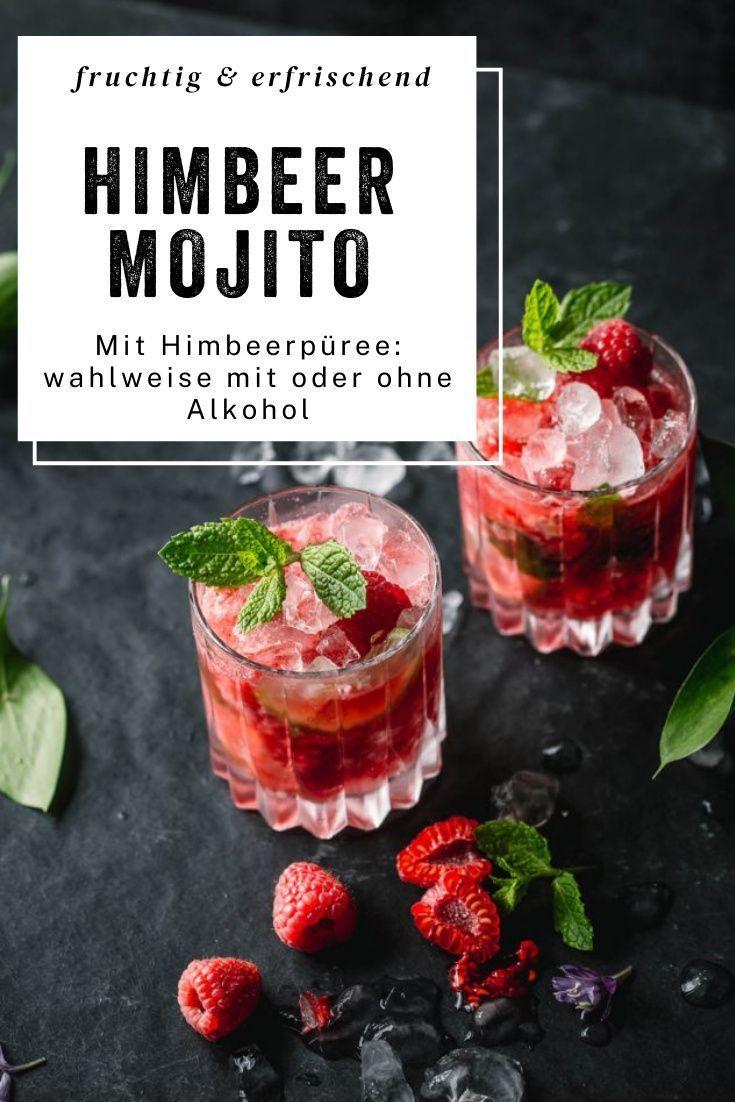 Alkoholfreier Himbeer Mojito Rezept Cocktail Rezepte Mit Alkohol Fruchtige Drinks Himbeeren