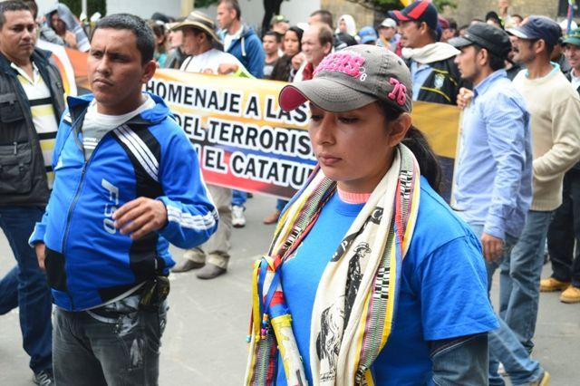 29 de mayo, marcha por las víctimas. Mujer, guardia campesina.