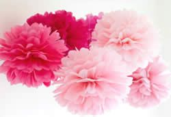 Tissue Paper Pom Poms Paper Flowers. Make Craft magazine craft tutorials Craft projects.Things to make.How to make party decorations Craft