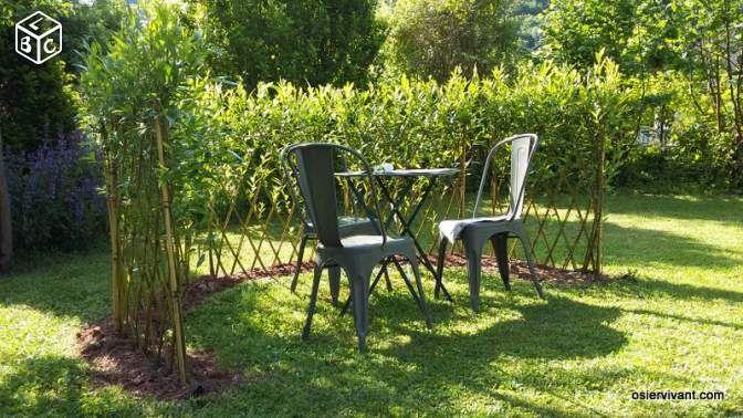 mini haie brise vue en osier vivant saule tress jardinage doubs osier vivant. Black Bedroom Furniture Sets. Home Design Ideas