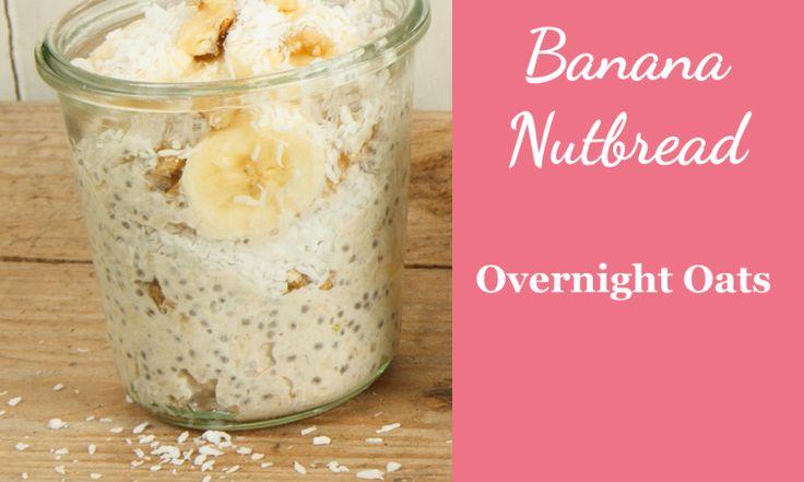 Rezept für Overnight Oats Bananenbrot