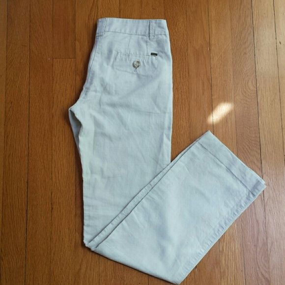 Mango linen pants Very comfortable, classy but modern cut. In an easy to match beige/cream color. Straight leg. Like-new condition. Bought in Mango Spain. Perfect for spring or summer. 55% linen, 45% cotton. Size is a European 34, that even if the tag says USA 2, they fit better a 0 (for a fitted look) or 00 (for a loose look). Mango Pants Straight Leg
