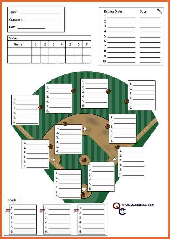Softball Lineup Template