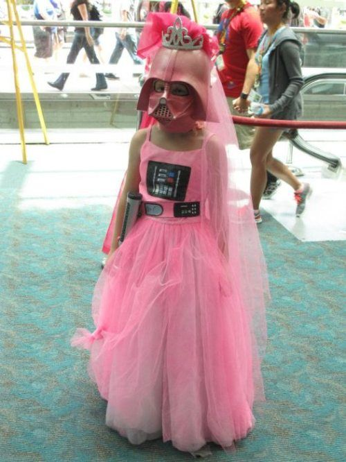 Queen Vader.Little Girls, Darth Vader, Future Daughter, Halloween Costumes, Pink, Princesses, Funny Costumes, Starwars, Funny Stars Wars