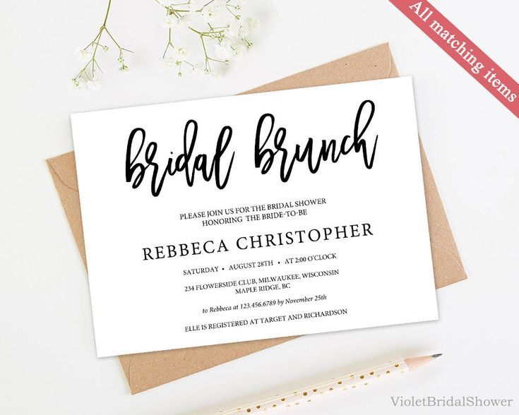 167 best Bridal Shower Invitation images on Pinterest Invitation - lunch invitation templates