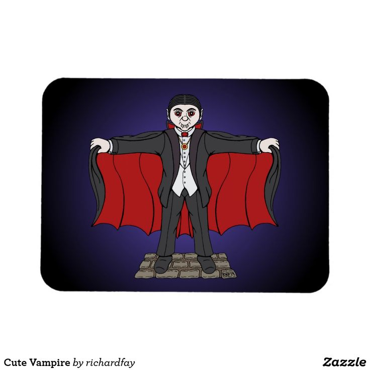 Cute Vampire Magnet.  50% Off with code FIFTYOFFDEAL  Offer is valid through 11/16/2017 11:59:59 PM PST. #vampire #Dracula #cute_vampire #cute_Dracula #cartoon_vampire #cartoon_Dracula #magnet #flexi_magnet #zazzle