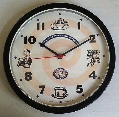 Vintage-Maxwell-House-Coffee-Advertising-Clock-Retro-Style ...