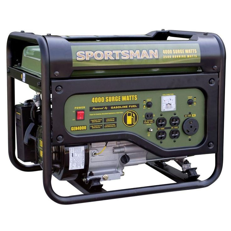 Sportsman 4,000-Watt Gasoline Powered Portable Generator with RV Outlet