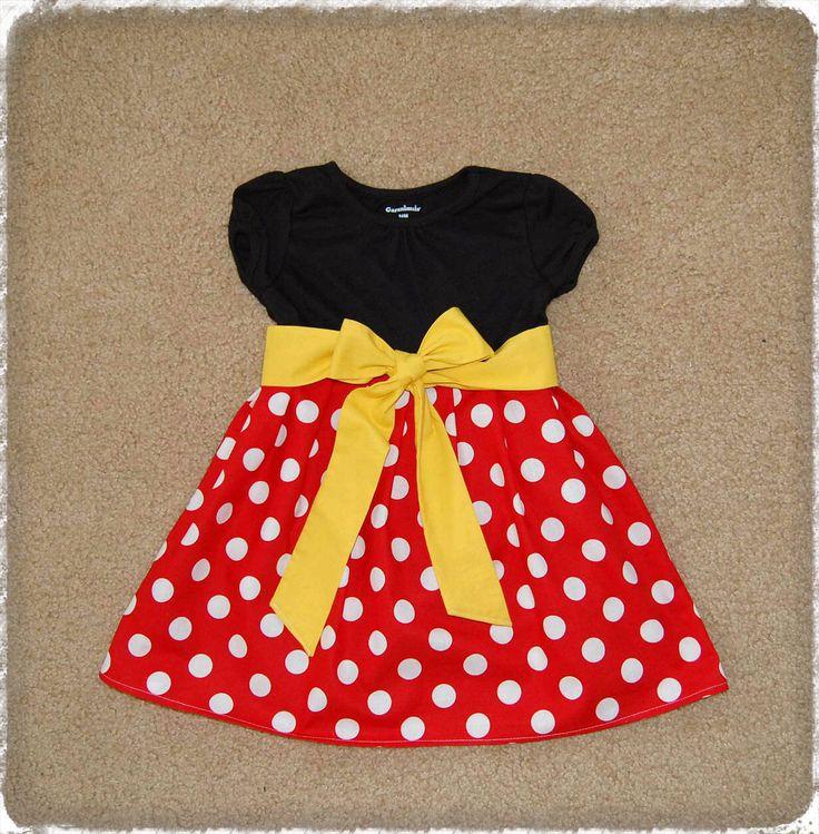 Minnie dress**Mickey Mouse dress**Toddler girls dress**Black, red polka dots, yellow sash**Dress for Disney World**Minnie Mouse dress by DressAvenue on Etsy https://www.etsy.com/listing/222557835/minnie-dressmickey-mouse-dresstoddler