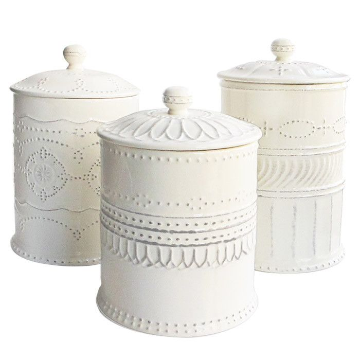 Exceptional White Kitchen Canisters.
