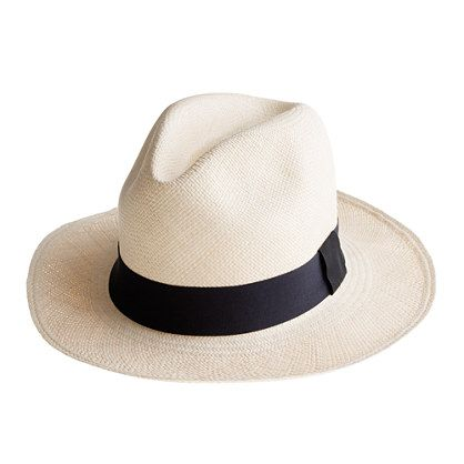 The legendary Panama hat gained its iconic status when President Theodore Roosevelt wore one on his visit to the Panama Canal. Since then, these hats have graced the heads of style greats ranging from Ernest Hemingway to Paul Newman (you can't get much more authentic than that). Woven by hand in Ecuador from fronds of the toquilla palm (so no two are exactly alike), it's the perfect tomboy touch to pretty much any ensemble. Natural toquilla straw.Interior cotton sweatband.Import..