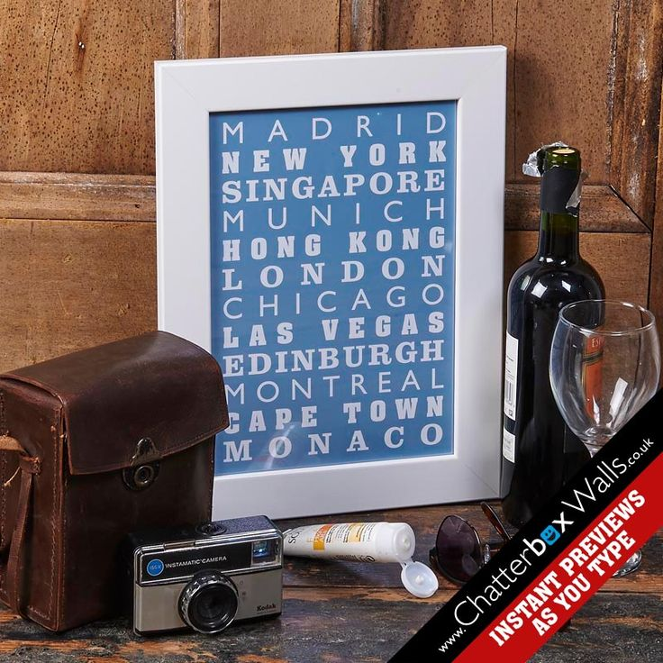Bespoke Special places personalised destination print