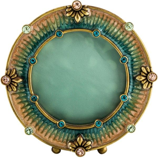 Pre-owned Jay Strongwater Embellished Picture Frame ($125) ❤ liked on Polyvore featuring home, home decor, frames, blue, jay strongwater frames, blue picture frames, jay strongwater, blue frames and blue home accessories
