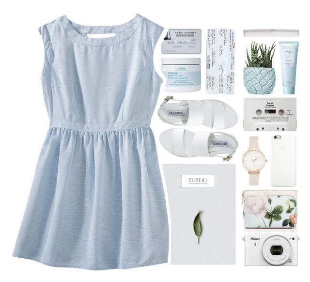 """""""Breath of Fresh Air"""" by zoe-connor ❤ liked on Polyvore featuring Steve Madden, Black Apple, Chen Chen & Kai Williams, Ted Baker, Aveda, Olivia Burton, CASSETTE, Lirikos, Mossimo and floral"""