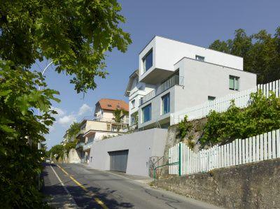 Housing in Neuchatel, Switzerland, by Manini Pietrini Architects