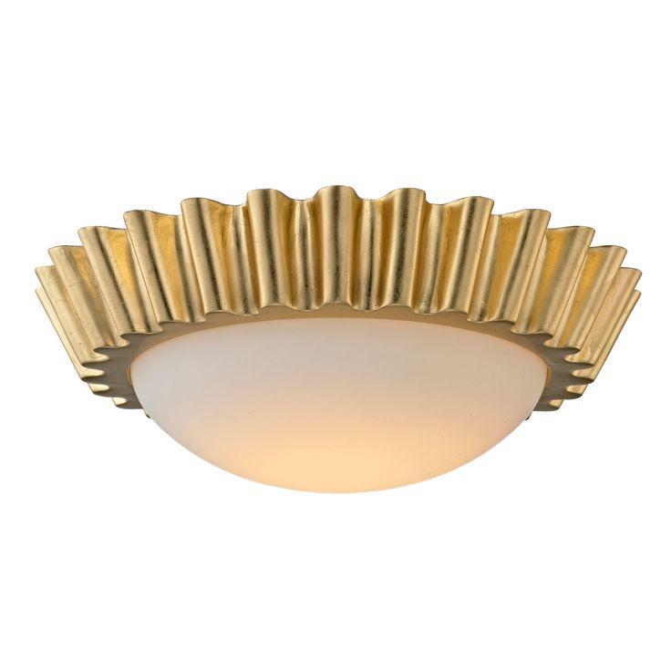 Reese Gold Leaf 16 Inch LED Flush Mount Troy Flush Mount Flush & Semi Flush Lighting Ceili