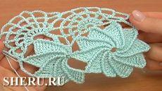 Кружевная лента видео крючком, урок 23 часть 1 Crochet lace tape video, lesson 23, part 1