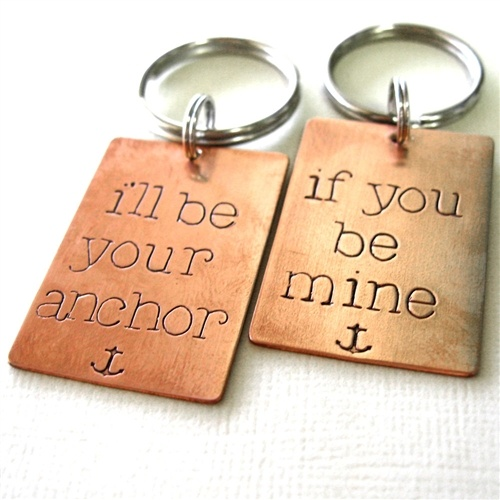 Anchor Key Chain Set - I'll be your anchor, if you be mine.