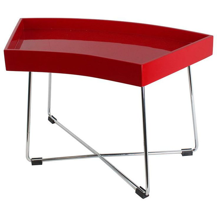 Wooden tray table with metal base www.inart.com