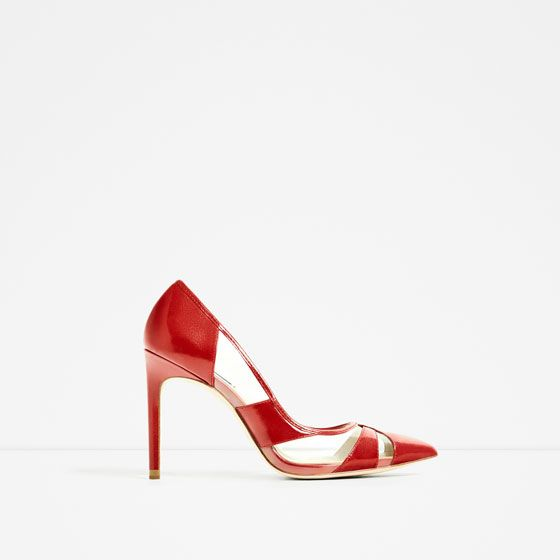 Image 2 of VINYL RED COURT SHOE from Zara