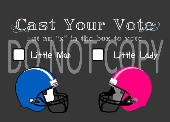 Printable Football Themed Gender Reveal Vote by PerfectedbyGrace