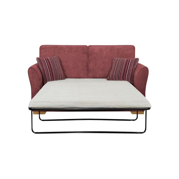 Plum Fabric Sofas 2 Seater Sofa Bed