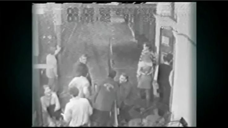 Jane Rimmer with unknown male  CCTV footage from outside the Claremont Hotel, moments before she was abducted and murdered. Police have been able to identify all persons in this footage except for the man seen interacting with Jane (white shirt)