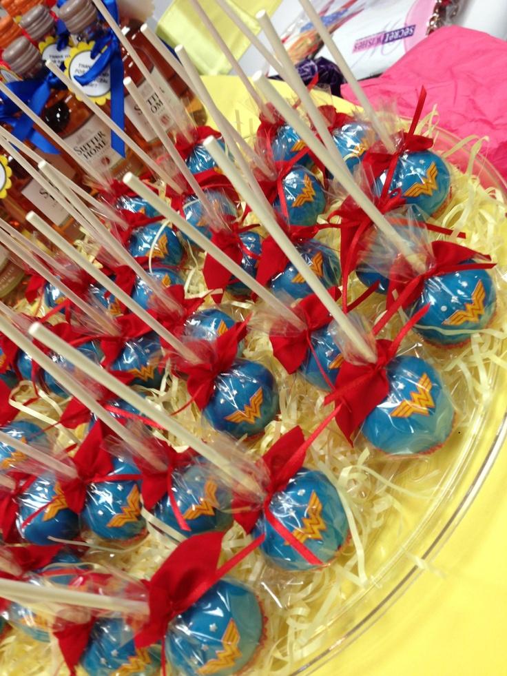 Wonder Woman Party ~ Dessert ~ Cake Pops