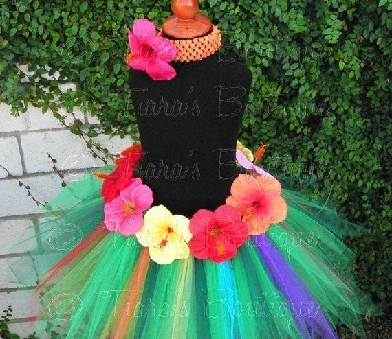 **I WANT A TUTU**luau party ideas for kids | Luau Birthday Party Tutu, for big sister? | kids party ideas