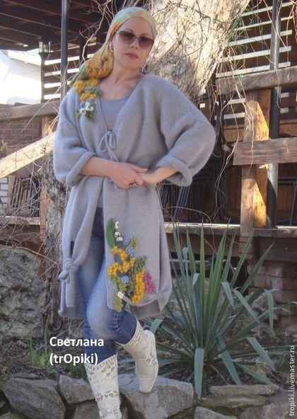 Кардиганы и пальто Светланы Волкодав. Авторские работы в стиле БОХО