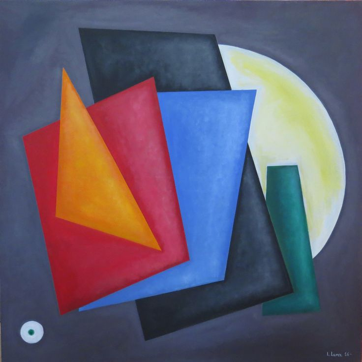 Leto Lama - Geometrical Composition 90 X 90 (2015)  Oil on canvas