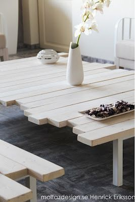 would be beautiful in reclaimed boards!  Bord av brädor ~ Henrick´s tankegångar - inredning, design, trender & trädgård