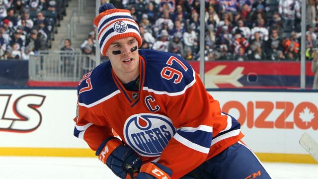 Connor McDavid at the 2016 Heritage Classic