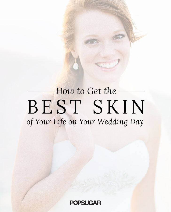 How to prepare your skin for your wedding day. Starting with a trip dermatologist six months out to a quick spray tan the day before, here are all the treatments you need to consider as the bride to be.