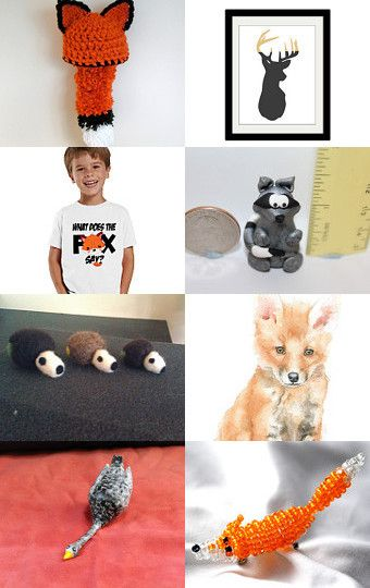 Fantastic Mr. Fox (and friends) by Laura on Etsy--Pinned with TreasuryPin.com